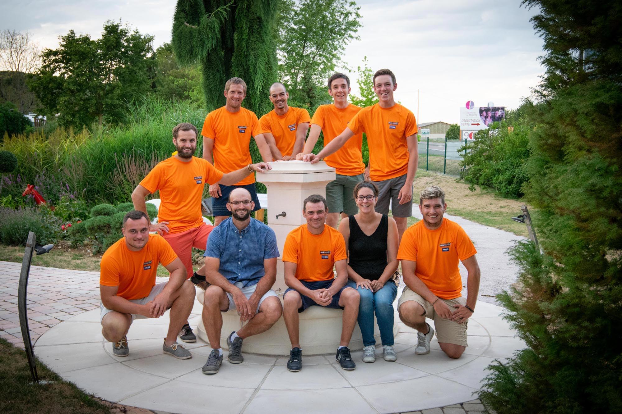 L'équipe Perret Paysage à Tournus